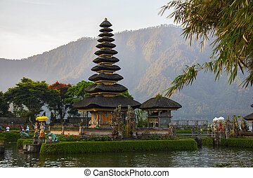 Pura Ulun Danu Bratan is a major water temple on Lake...