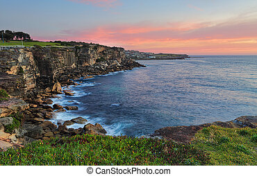 North Coogee headland at sunrise - Views from the top of the...