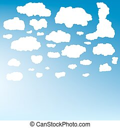 Stylized cloud silhouettes set EPS 10 - Collection of...