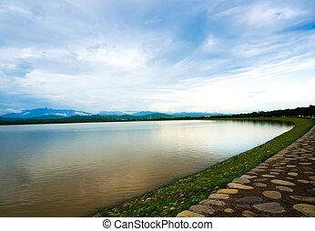 Sukhna lake in Chandigarh India - Sukhna lake in chandigarh...