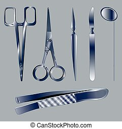 Set medical instruments