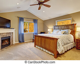 perfect bedroom with large bed and tv - Perfect bedroom with...