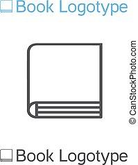 Vector icon of book, school symbol, book logo