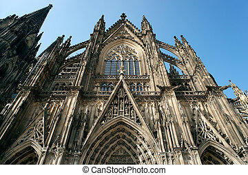 Cathedral in Cologne - Front of the Cathedrai lin Cologne