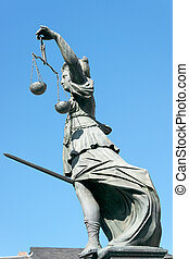 Lady Justice stature in Frankfurt