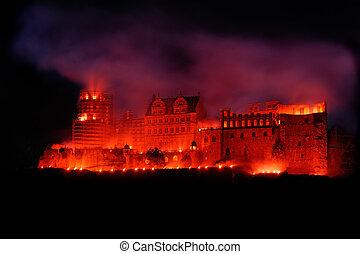 Heidelberg Red Castle - Heidelberg red castle lit like it...