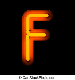 Neon Letter F (Rounded)