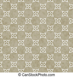 Brown and White Flower Symbol Tile Pattern Repeat Background...