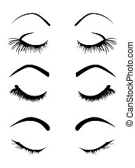 Set of four eyelashes