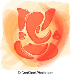 Ganesha or Ganesh, Hindu God Vector Eps8