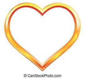Gold heart frame