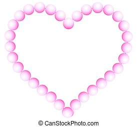 Pearl heart - Valentine heart of the pearl beads