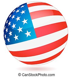 Spherical Flag of USA - Spherical Flag of the United States...