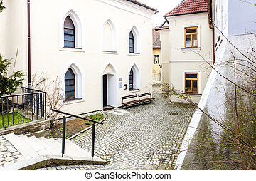Front synagogue, Jewish Quarter, Trebic, Czech Republic
