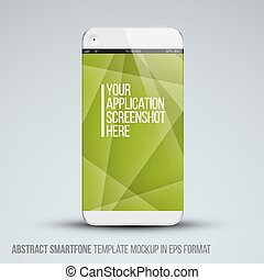 Modern abstract mobile phone template - Modern abstract...