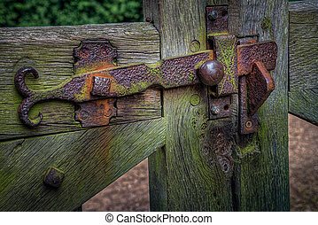 Old gate latch - Rusty old gate latch
