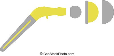 Flat Icon of Artificial Joint on White Background Vector...