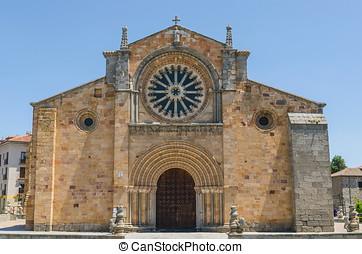 San pedro facade - Facade of San Pedro church in the city of...