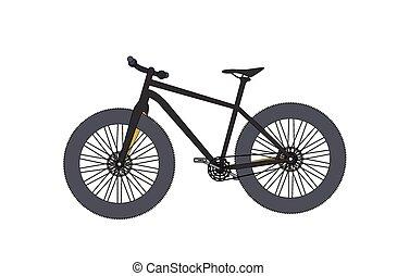Bicycle. Vector Illustrator.