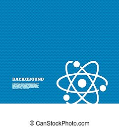 Atom sign icon. Atom part symbol. - Background with seamless...