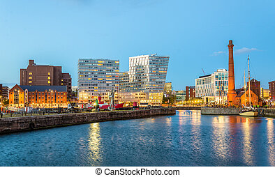 Canning Dock, the Port of Liverpool - England