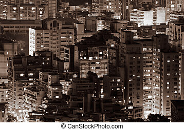 Community of mansions and apartment of buildings in the...