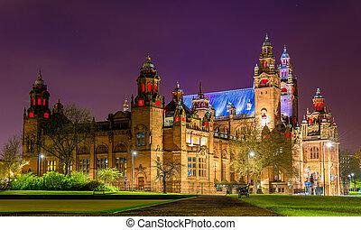 Kelvingrove, arte, galería, y, museo, en, Glasgow,...