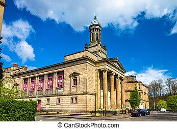 Glasgow,  Kelvingrove, Escocia, anterior, iglesia