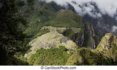 Machu Picchu Time Lapse 1 - Time Lapse Of Clouds And People...