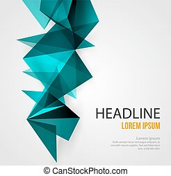 Abstract Geometric Background Design - Vector Abstract...