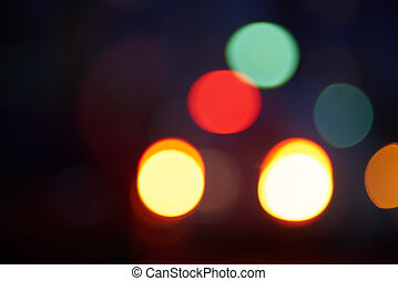 blured traffic street lights abstract background