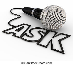 Ask Microphone Questions Answers Cord Inquiry - Ask word...