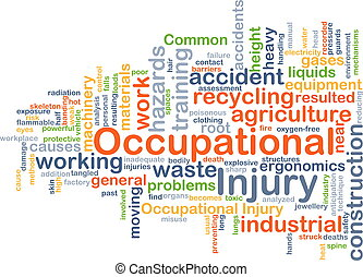 Occupational injury background concept - Background concept...
