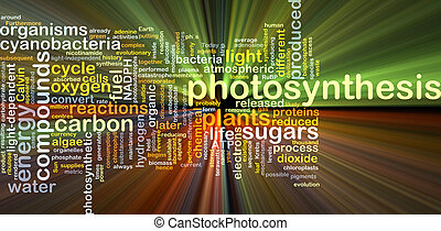 Photosynthesis background concept glowing - Background...