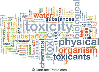 Toxicity background concept - Background concept wordcloud...