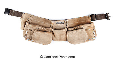 Tool belt - A Tool belt isolated on white background