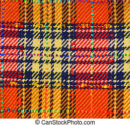 Fabric - Plaid fabric background