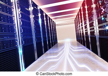 Room of virtual database - Image of a room of virtual...