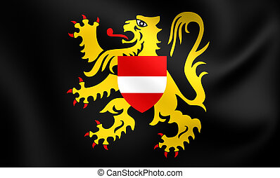 Flag of Flemish Brabant, Belgium. - 3D Flag of the Flemish...