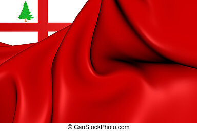 Flag of New England, USA. - 3D Flag of the New England, USA....