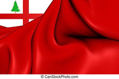Flag of New England, USA. - 3D Flag of the New England, USA....