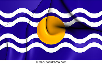 Flag of West Indies Federation 1958-1962 - 3D Flag of the...