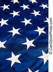 White Stars on American Flag - A field of white stars...