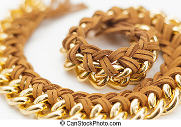 Chain and Leather Jewelry