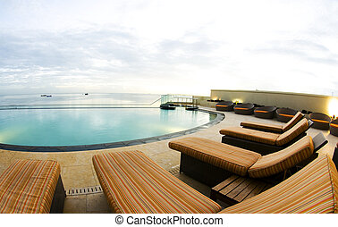 infinity pool luxury port of spain trinidad - luxury resort...