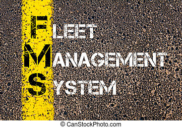Business Acronym FMS as Fleet Management System - Business...