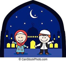 Moslem boy and girl