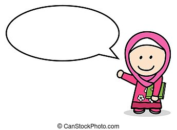 Moslem girl bubble speech
