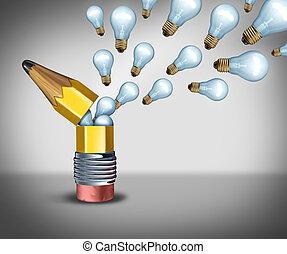Open Creativity - Open creativity idea concept as an...