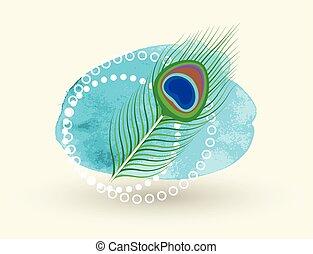 Spiritual Vector Peacock Feather